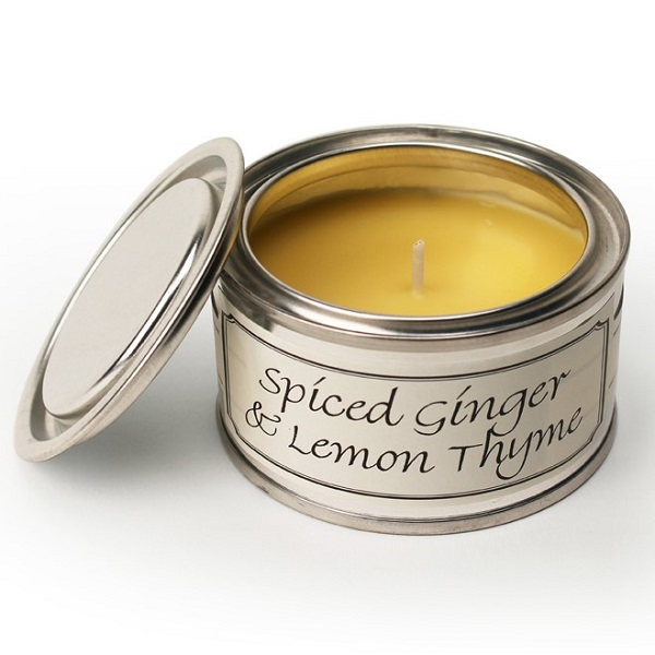 Spiced Ginger and Lemon Thyme Paint Pot Candle