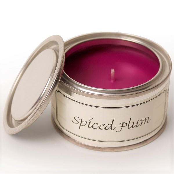 Spiced Plum Paint Pot Candle