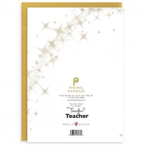 Terrific Teacher Back of Card and Envelope