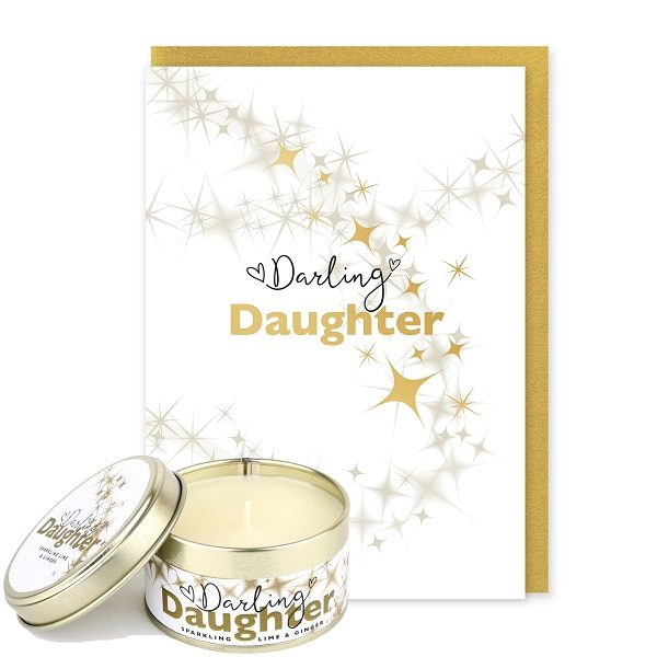 Darling Daughter Card and Candle