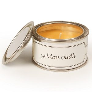 Golden Oudh Paint Pot Candle