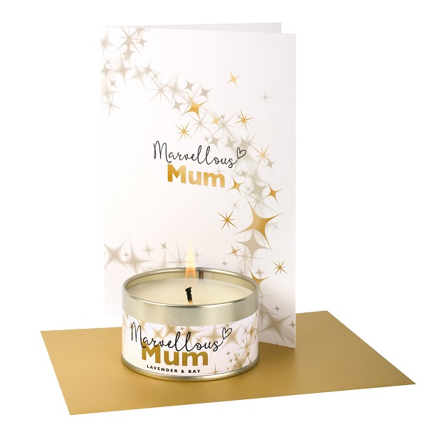 Marvellous Mum Occasions Candle and Card and Envelope