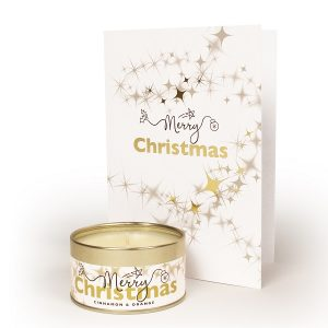 Merry Christmas Occasions Candle and Card