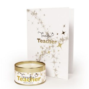 Terrific Teacher Occasions Candle and Card