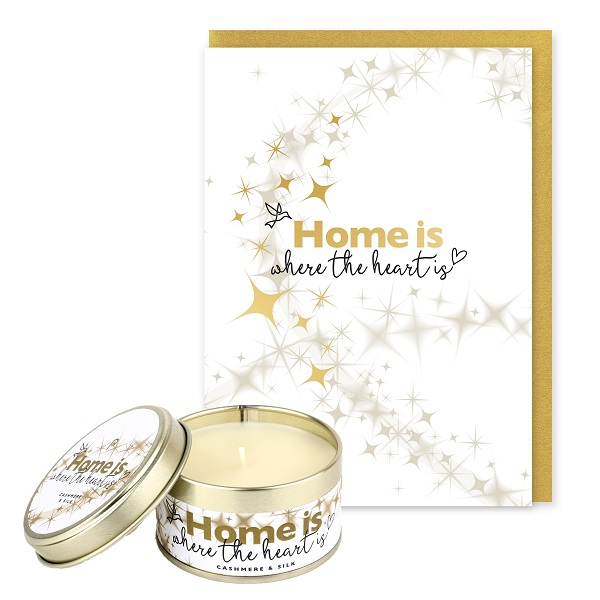 Home is Where the Heart Is Occasions Card and Candle