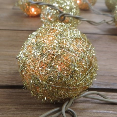 Christmas Bauble Gold Close Up