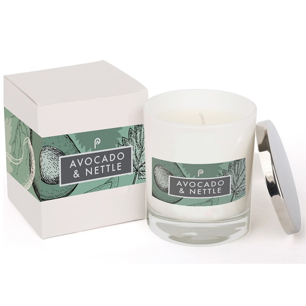 Avocado & Nettle Elements Candle White and Box