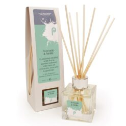 Avocado and Nettle Reed Diffuser Bottle and Box with Reeds