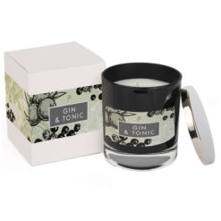 Gin and Tonic Elements Glass Candle Black with Box