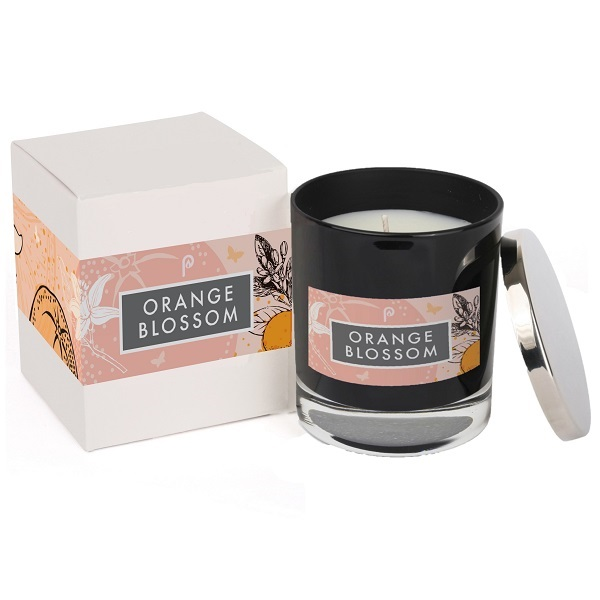 Orange Blossom Elements Glass Black and Box