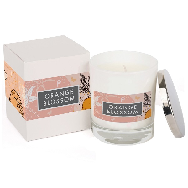 Orange Blossom Elements Glass White and Box