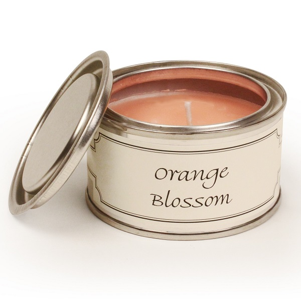 Orange Blossom Paint Pot Candle