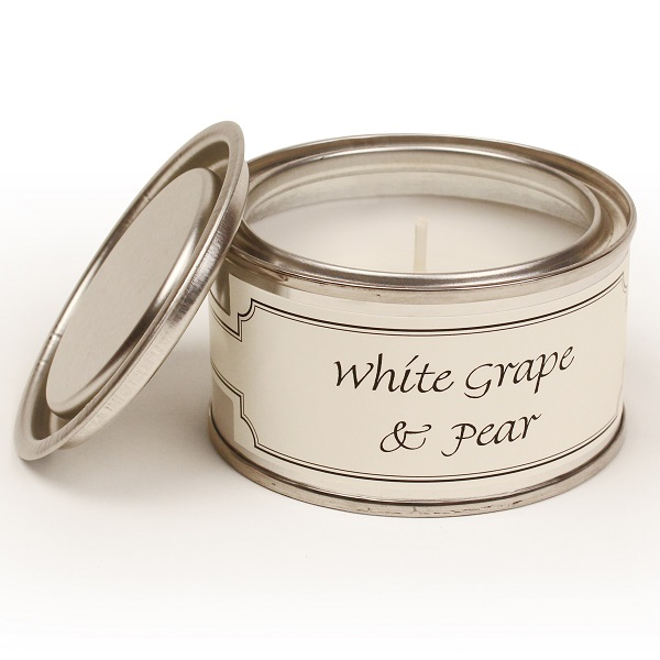 White Grape and Pear Paint Pot Candle
