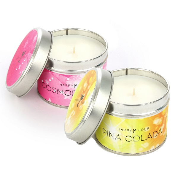 Happy Hour Cosmopolitan and Pina Colada Candles