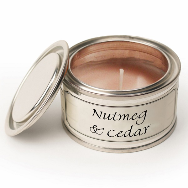 Nutmeg & Cedar Paint Pot Candle