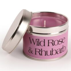 Wild Rose and Rhubarb Coordinate Candle. Pink