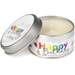 Happy Birthday Occasions Candle Linen & White Pepper 1